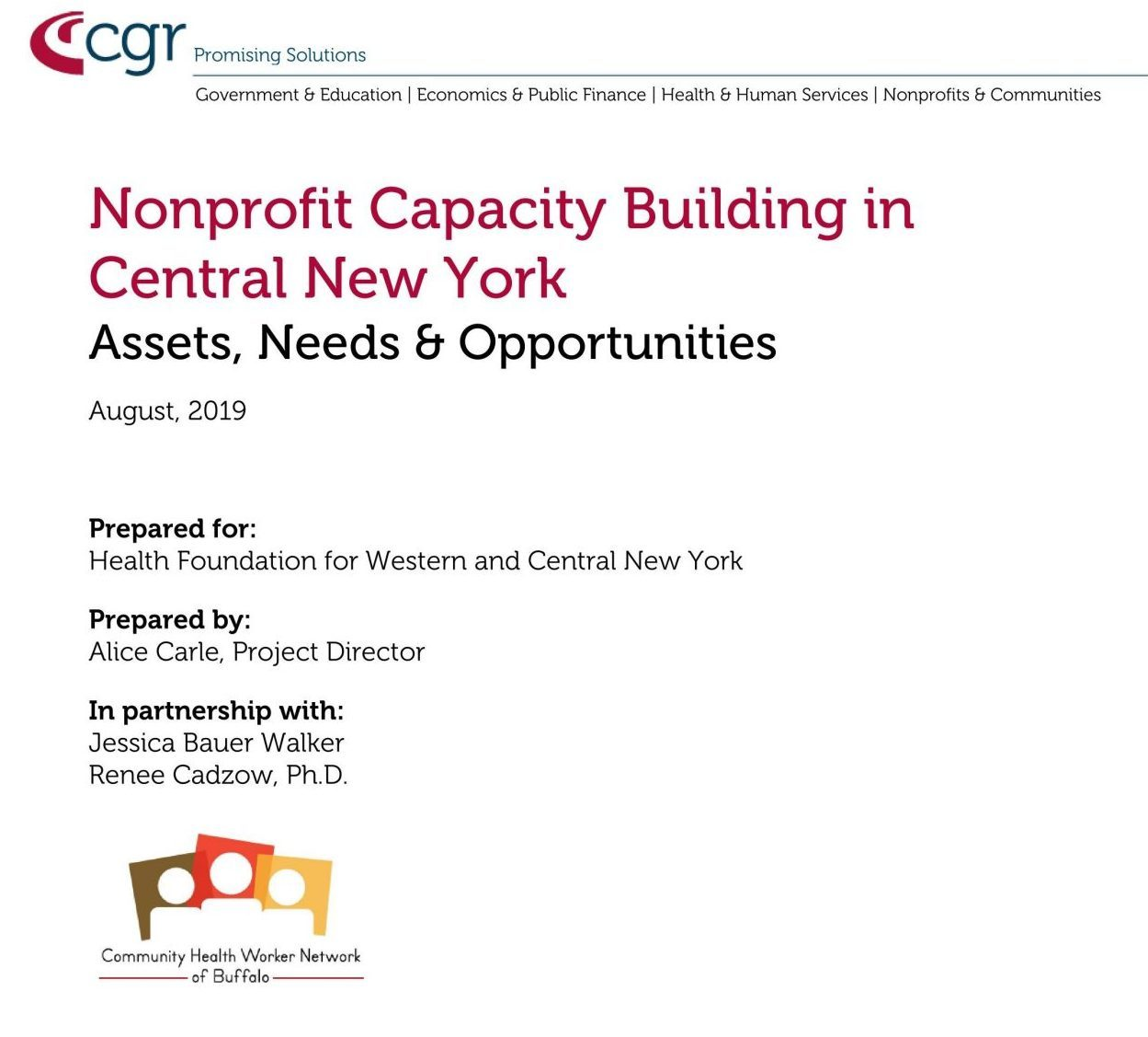 Nonprofit Capacity Building Cover Page