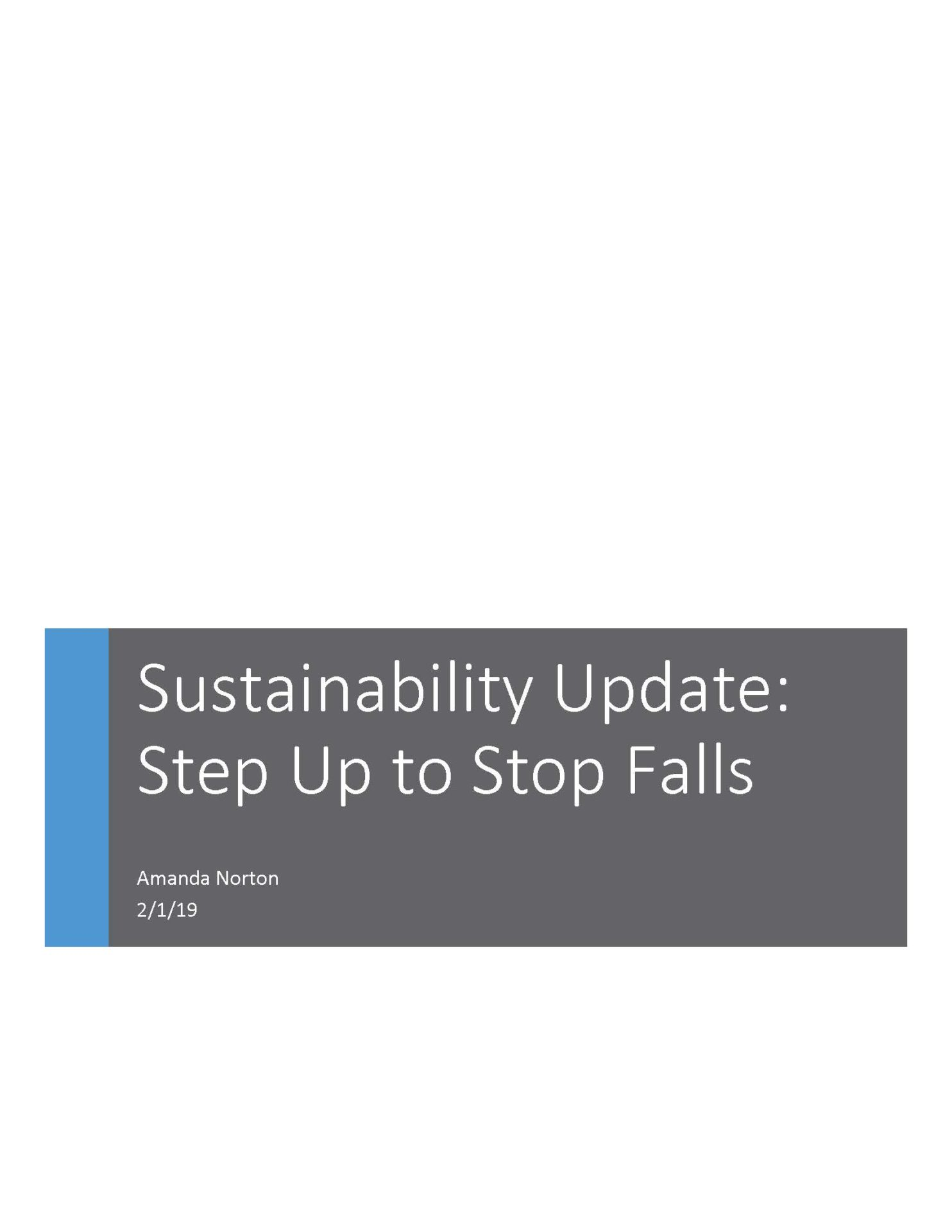 SU2SF Sustainabilty Report Cover